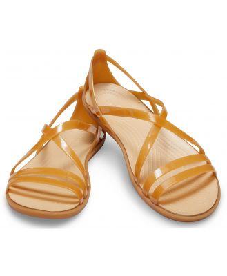 Crocs Women's Crocs Isabella Strappy Sandal Dark Gold/Gold