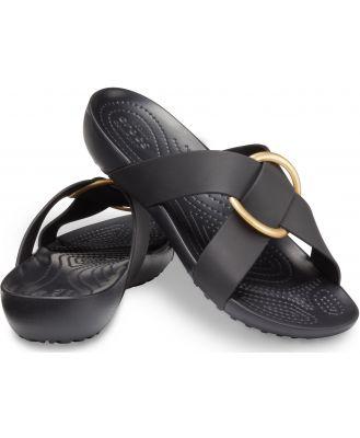 Crocs Women's Crocs Serena Cross-Band Slide Black