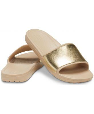 Crocs Women's Crocs Sloane Shine Low Slide Brown