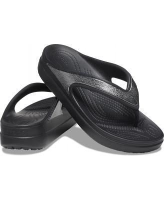 Crocs Women's Crocs Sloane Shine Wedge Flip Black