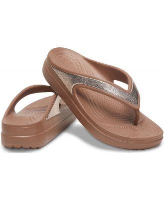 Crocs Women's Crocs Sloane Shine Wedge Flip Brown