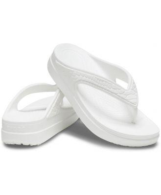 Crocs Women's Crocs Sloane Snake Wedge Flip White