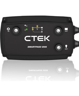 CTEK Smartpass 120S DC/DC 120A Power Management System for Charging 12V Starter and Service Batteries