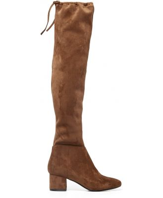 Abbie Low Block Over-The-Knee Boots - Chocolate