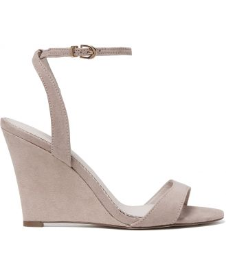 Abby Low Wedge Heels - Dusty Blush