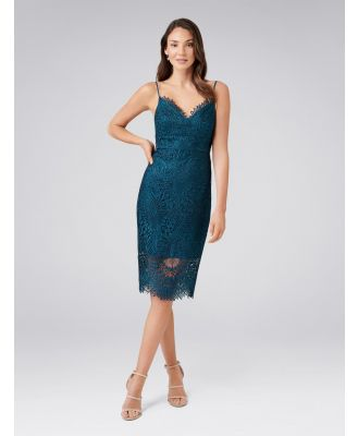 Amelie Lace Pencil Dress - Teal