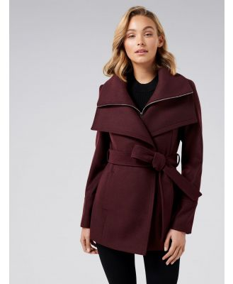 April Cropped Coat - Berry
