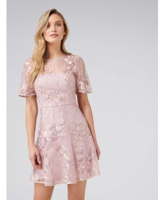 Ashton Embroidered Dress - Blush