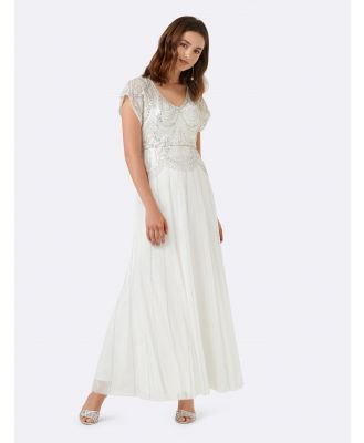 Beatrice Beaded gown - Porcelain
