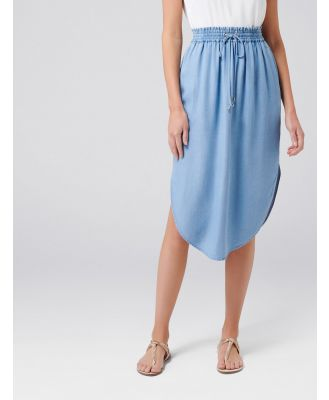 Carolina Ruched Waist Skirt - Light wash