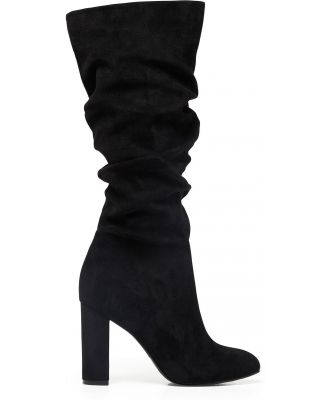 Chantel Knee-High Slouch Boots - Black