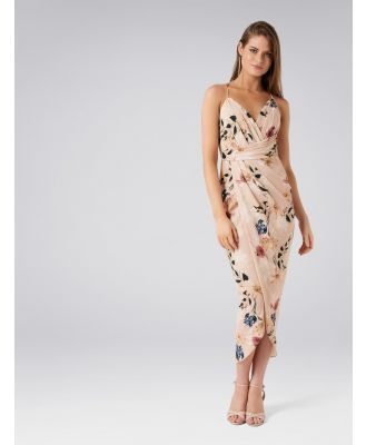 Charlotte Drape Maxi Dress - Light Base Floral Print