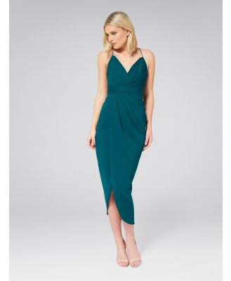 Charlotte Drape Maxi Dress - Teal Oasis