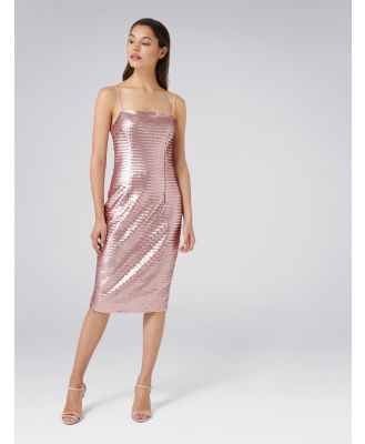 Chrisley Sequin Sheath Dress - Pink