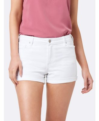 Coco Mid Rise Denim Shorts - White