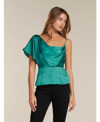 Danielle One-Shoulder Satin Top - Fortress