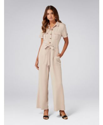 Dylan Utility Boilersuit - Calm Beige