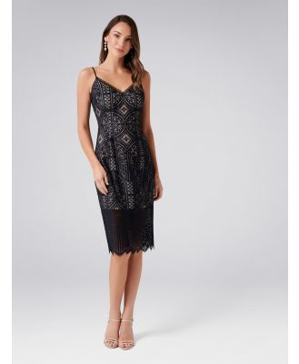 Eliza Lace Pencil Dress - Black