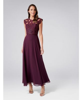 Emilia Embellished Maxi Dress - Wineberry