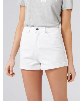 Florida High Rise Denim Shorts - White