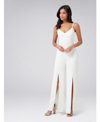 Gerrie Cross Front Jumpsuit - Porcelain