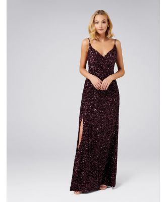 Giselle Sequin Gown - Berry Sequin