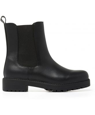 Harper Chunky-Sole Ankle Boots - Black