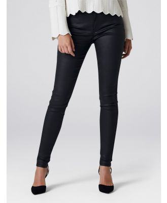 Ivy Petite Mid Rise Full Length Jeans - Wax Black