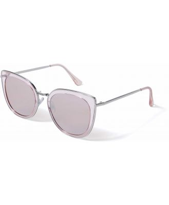 Jaslyn Floating Lens Sunglasses - Blush/Silver