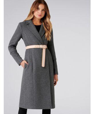 Jenny Longline Coat - Charcoal
