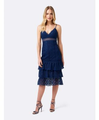 Katie lace tier dress - Blue