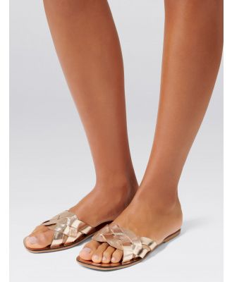 Kelly Slip-On Sandals - Gold