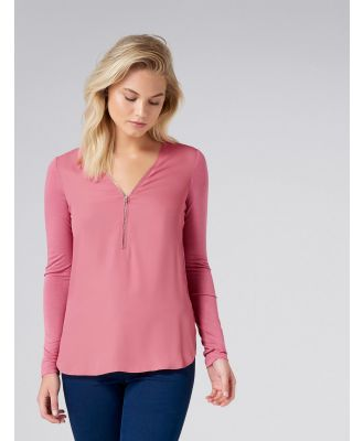 Laquisha Zip Front Essential - Passion Pink