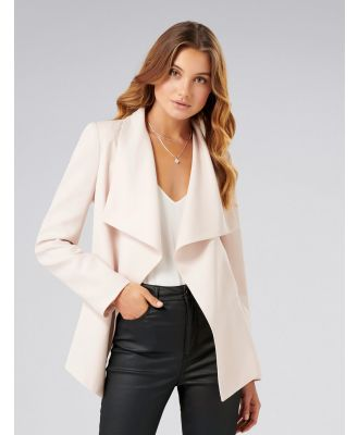Lesley Waterfall Jacket - Nude Shimmer