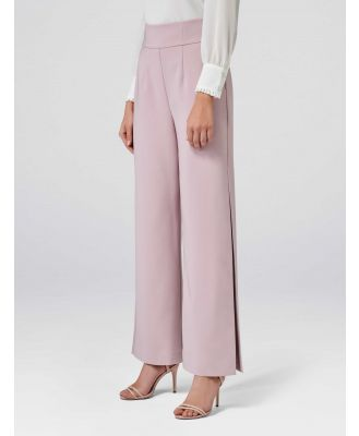 Lexi Corset Wide Leg Split Pants - Pink