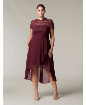 Lilly Curve Lace Bodice Two-in-One Dress - Wine