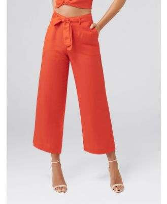 Lizzie Linen-Blend Pants - Bright Delight