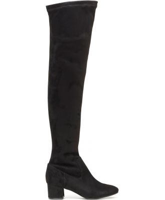London Low Block Over-The-Knee Boots - Black