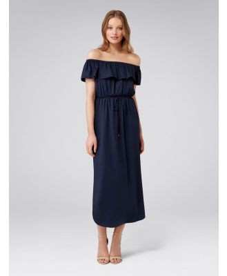 Maria Maxi Bardot Dress - Navy
