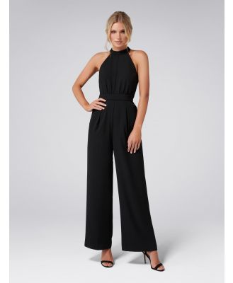 Megan Halterneck Jumpsuit - Black