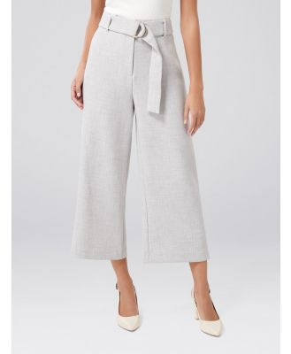 Melanie D-Ring Cropped Pants - Grey Marle