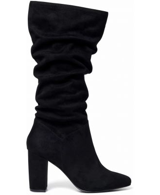 Mila Slouch Calf Boots - Black