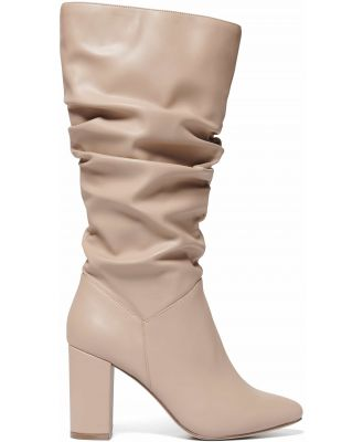 Mila Slouch Calf Boots - Camel