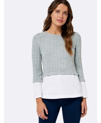 Milania Jumper With Flare Sleeve - Grey
