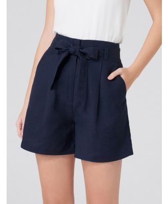 Molly High Waist Shorts - Navy