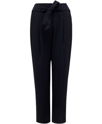 Nikki Tie Waist Tapered Pants - Admiral Blue