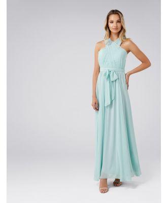 Nova Cross Front Maxi Dress - Pale Mint