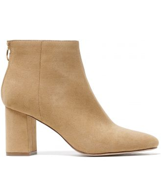 Reign Flared Heel Boots - Taupe