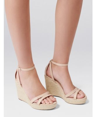 Ruby Espadrille Wedges - Nude