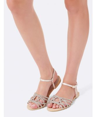 Sardinia Embellished Vamp Sandals - Gold